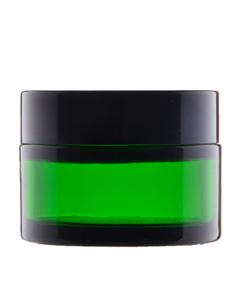 Skleněný kelímek RONA zelené sklo 30ml + černé víčko + PP mezivíčko - 1