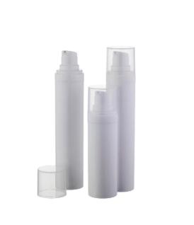 Airless lahvička 50ml bílá, víčko bílé POLPA LONG