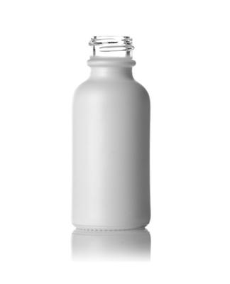 Skleněná lahvička bílá MAT ROSE 30ml