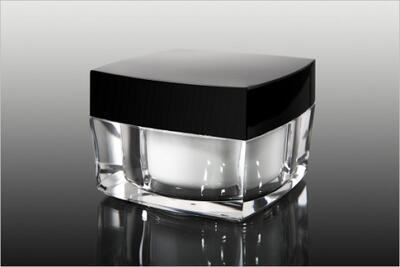 Akrylový kelímek 50ml s černým víčkem + mezivíčko