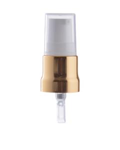Uzávěr pumpička bílo/ zlatá 18/410