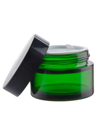 Skleněný kelímek RONA zelené sklo 30ml + černé víčko + PP mezivíčko - 2